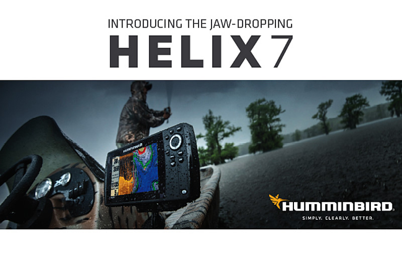 new humminbird® helix™ 7: jaw-dropping screen brightness, speed, Fish Finder